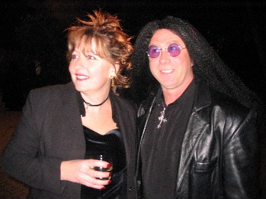 Neighbours Kevin and Sally, as Ozzy Osborne and Sharon.