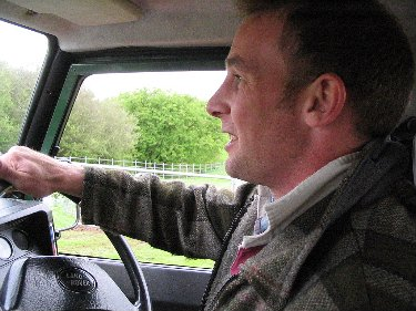 Tim showing me around the section of the estate known as 'the park', all 4000 acres of it!.